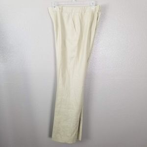 Lauren RL Tan High Rise Linen Straight Leg Pants 6